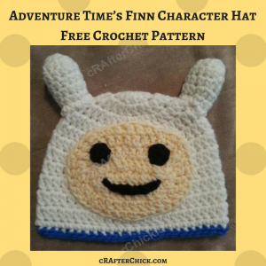 Adventure Time's Finn Character Hat Free Crochet Pattern