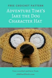 Adventure Time's Jake the Dog Character Hat Free Crochet Pattern long