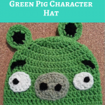 Angry Birds' Minion Green Pig Character Hat Crochet Pattern