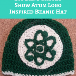 Big Bang Theory Show Atom Logo Inspired Beanie Hat Crochet Pattern