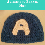 Captain America Superhero Beanie Hat Crochet Pattern