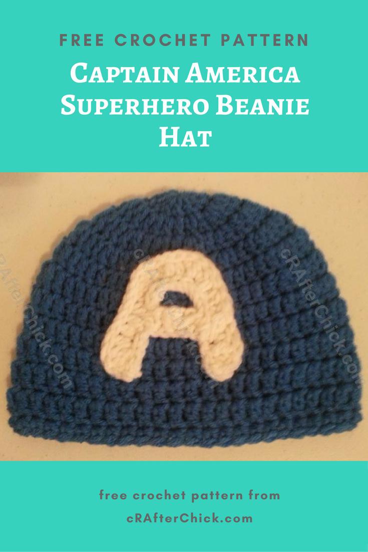 Captain America Superhero Beanie Hat Crochet Pattern » cRAfterchick ...
