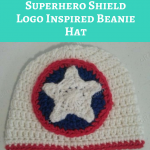 Captain America Superhero Shield Logo Inspired Beanie Hat Crochet Pattern