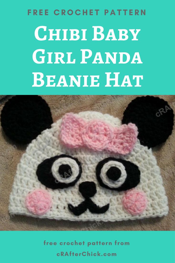 Chibi Baby Girl Panda Beanie Hat Crochet Pattern Crafterchick