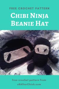 Chibi Ninja Beanie Hat Free Crochet Pattern