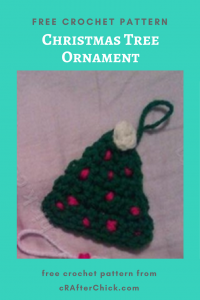 Christmas Tree Ornament Free Crochet Pattern