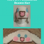 "Cinnamoroll ""Cinnamon"" the Puppy Character Beanie Hat Crochet Pattern"