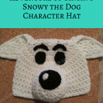 Adventure of Tintin's Snowy the Dog Character Hat Crochet Pattern