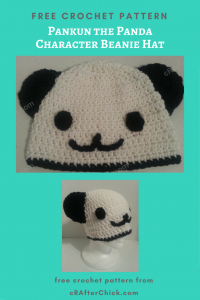 Pankun the Panda Beanie Hat Free Crochet Pattern