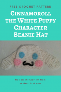 "Copy of Pompompurin ""Purin"" the Sanrio Dog Character Hat Free Crochet Pattern"