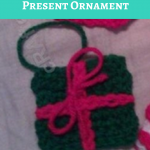 Crochet Christmas Present Ornament Pattern