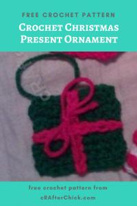 Crochet Christmas Present Ornament Free Crochet Pattern