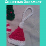 Crochet Santa Hat Christmas Ornament Pattern