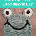 Cute and Easy Frog Beanie Hat Crochet Pattern