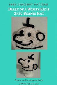 Diary of a Wimpy Kid's Greg Beanie Hat Free Crochet Pattern