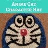 Doraemon the Anime Cat Character Hat Free Crochet Pattern
