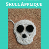 Easy Unisex Skull Applique Free Crochet Pattern long image