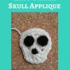 Easy Unisex Skull Applique Free Crochet Pattern long image