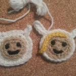 Finn Adventure Time Face Applique Crochet Pattern