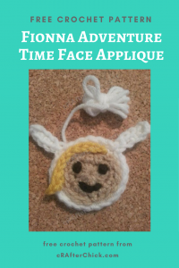 Fionna Adventure Time Face Applique Free Crochet Pattern long image