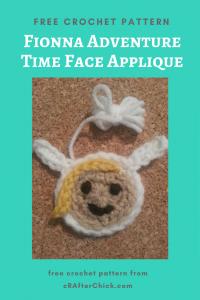 Fionna Adventure Time Face Applique Free Crochet Pattern long image