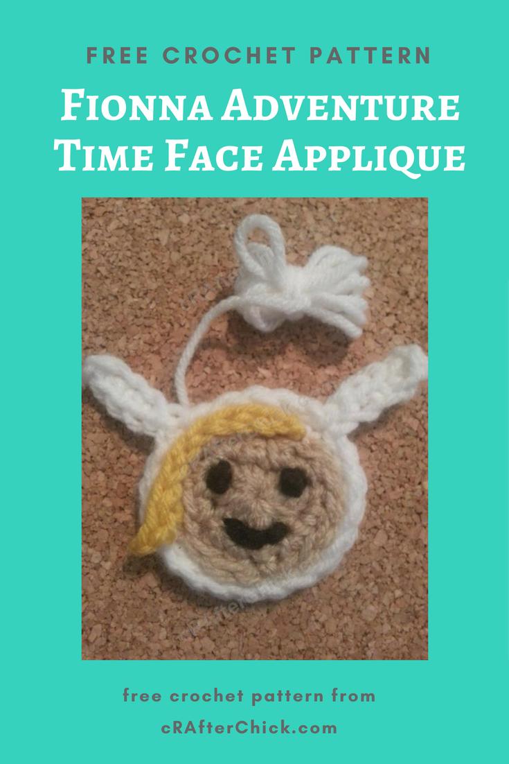 Fionna Adventure Time Face Applique Crochet Pattern Crafterchick