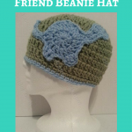 Gavin's Dinosaur Friend Beanie Hat Crochet Pattern