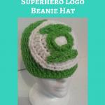 Green Lantern Superhero Logo Beanie Hat Crochet Pattern