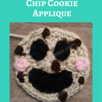 Happy Chocolate Chip Cookie Applique Crochet Pattern