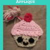 Happy Cupcake Applique Free Crochet Pattern
