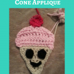 Happy Icecream Cone Applique Crochet Pattern