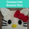 Hello Kitty Character Beanie Hat Free Crochet Pattern