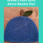 Jenna's Easy Blue Apple Beanie Hat Crochet Pattern