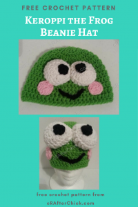 Keroppi the Frog Beanie Hat Free Crochet Pattern
