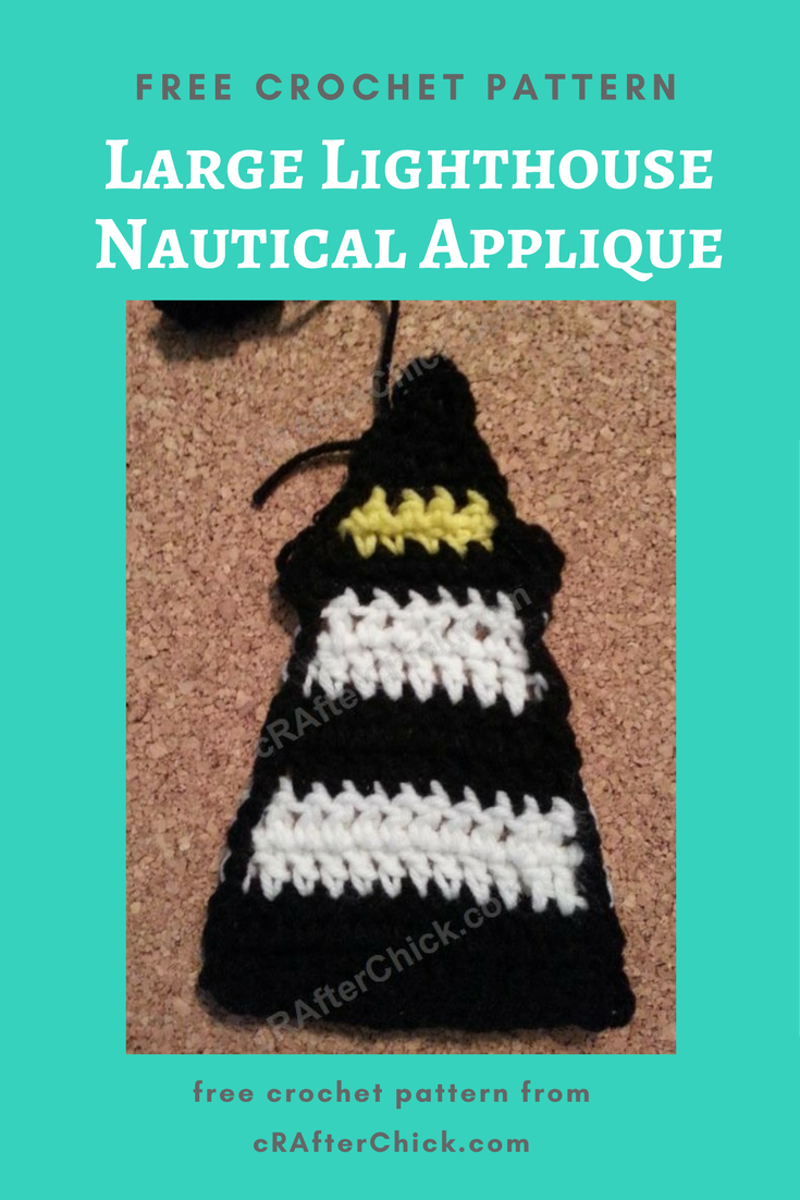 Large Lighthouse Nautical Applique Crochet Pattern Crafterchick