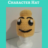 Lego Man Character Hat Free Crochet Pattern long
