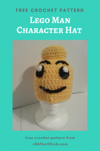 Lego Man Character Hat Free Crochet Pattern long