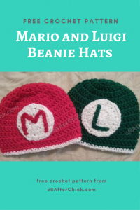 Mario and Luigi Beanie Hats Free Crochet Pattern