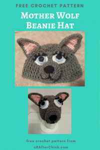 Mother Wolf Beanie Hat Free Crochet Pattern