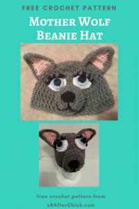 Mother Wolf Beanie Hat Free Crochet Pattern