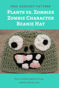 Plants vs. Zombies Zombie Character Beanie Hat Free Crochet Pattern