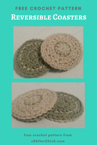 Reversible Coasters Free Crochet Pattern