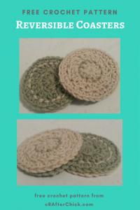 Reversible Coasters Free Crochet Pattern