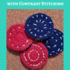 Reversible Coasters with Contrast Stitching Free Crochet Pattern