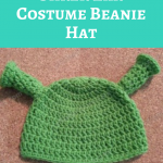Shrek Ear Costume Beanie Hat Crochet Pattern