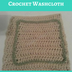 Simple Double Crochet Washcloth Crochet Pattern