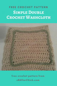 Simple Double Crochet Washcloth Free Crochet Pattern