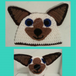 Skippyjon Jones Siamese Cat Book Character Beanie Hat Crochet Pattern