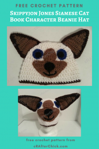 Skippyjon Jones Siamese Cat Book Character Beanie Hat Free Crochet Pattern