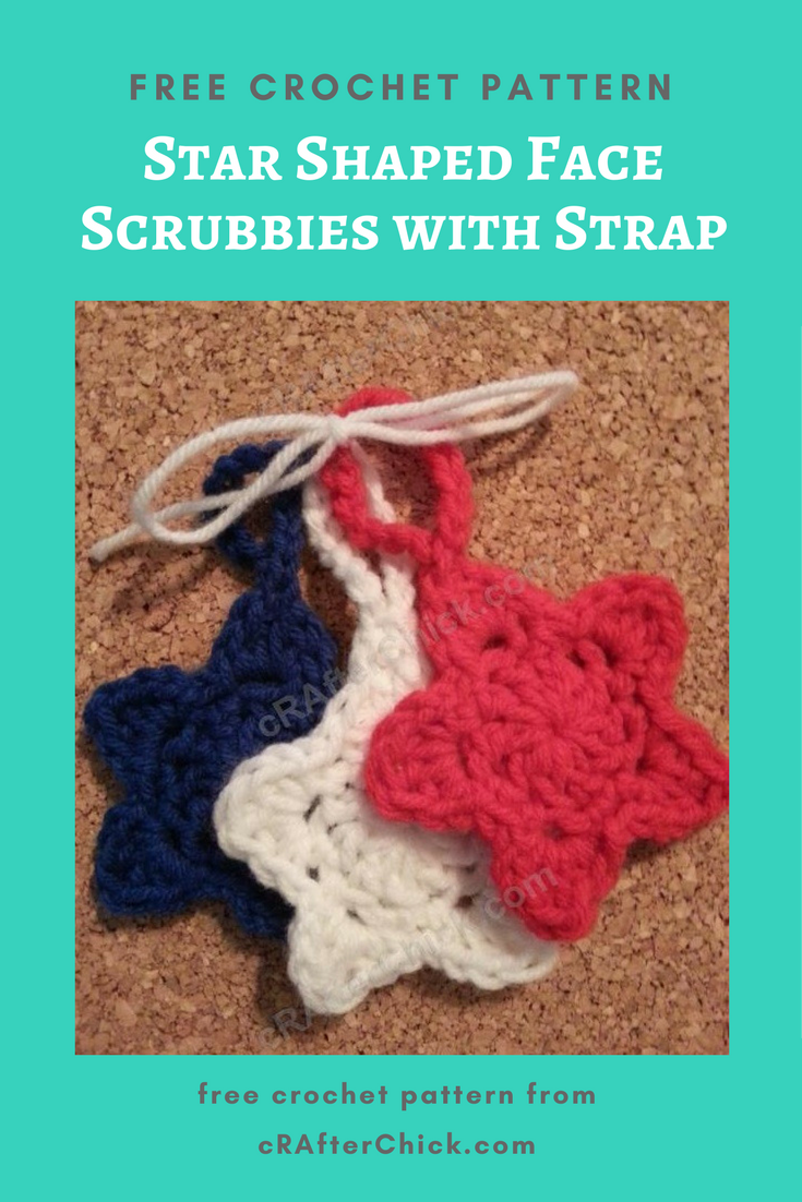 Star Shaped Face Scrubbies with Strap Crochet Pattern » cRAfterchick ...